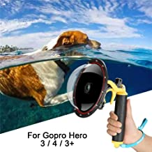 For GoPro Dome Hero Black 4 3 3+, Dome Port Lens with Transparent Cover,Floating Handle Grip And Pistol Trigger Attached Underwater Photography Waterproof 30M Action Camera GoPro Accessories Housing