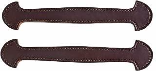 Pair of Havana Brown Leather Steamer Trunk Handles