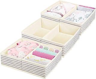 mDesign Large Soft Fabric Dresser Drawer and Closet Storage Organizer Set for Baby Room/Nursery, Child, Kids, Girls, Boys ...