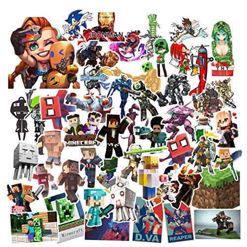 GTOTd Cool Funny Game Stickers (50Pcs Random As shown in the picture). Room Decor Waterproof Vinyl Stickers for Door Window Car Motorcycle Bicycle stickers Luggage Skateboard Vinyl Graffiti Laptop Stickers Decal Patches