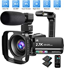 Video Camera Camcorder 2.7K Ultra HD YouTube Vlogging Camera 36MP IR Night Vision Digital..