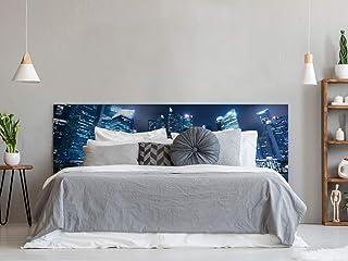 Cabecero Cama PVC Nocturno Urbano | Varias Medidas 150x60cm | Fácil colocación | Decoración Habitación | Motivos paisajísticos | Naturaleza | Urbes | Multicolor | Diseño Profesional