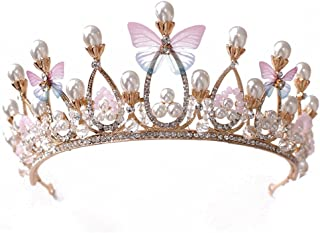 Sunshinesmile Butterfly Bridal Crown Hair Jewelry Crystal Tiara Princess Crown Wedding Hair Accessories