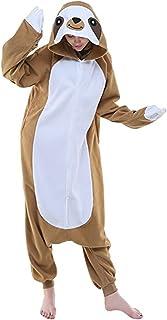 PULUMU Animal Cosplay Costume Sloth Adult One-Piece Pajamas Lemur Squirrel Onesie Sleepwear