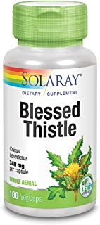 Solaray Blessed Thistle 340 mg | Healthy Appetite, Gastrointestinal & Breastfeeding Support | Non-GMO, Vegan & Lab Verifie...