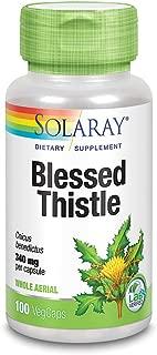 Solaray Blessed Thistle 340 mg | Healthy Appetite, Gastrointestinal & Breastfeeding Support | Non-GMO, Vegan & Lab Verified | 100 VegCaps