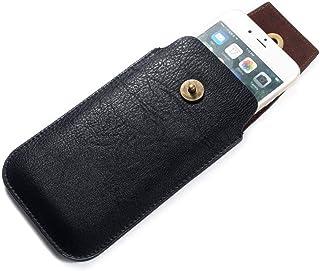 DFV mobile - New Design Leather Cover Vertical Belt Case with Magnetic Closure ????? ZTE Axon 7 JP (2016) - Black