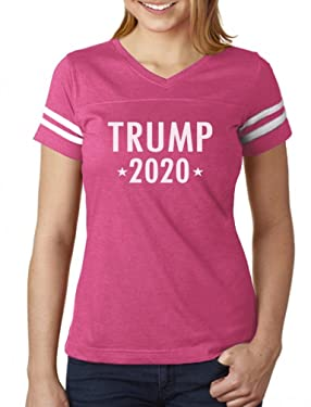 Tstars - Donald Trump for President 2020 Women Football Jersey T-Shirt