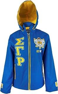 Big Boy Headgear Sigma Gamma Rho Sorority Womens New Windbreaker Jacket Royal Blue