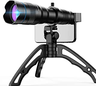 JUJUN 48x Hd Mobile Phone Macro Lens Zoom Telephoto Camera Tripod Alloy Telescope for iPhone 11 Pro Samsung Galaxy S9 Universal Clip
