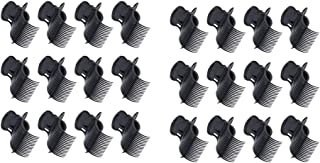 Perfeclan 24pcs Plastic Hot Roller Clips Hair Curler Claw Clips for Small, Medium, Large and Jumbo Hair Rollers