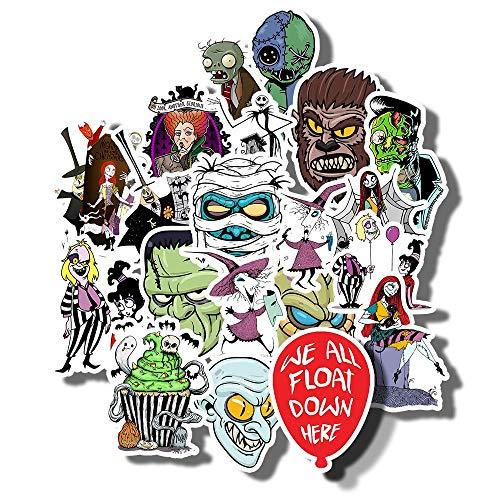 Kimlosk Set Full Halloween Vintage Swag Carolinee Retro Fan Arts Best Gift Ideas 20pcs Vinyl Stickers for Laptops Cars Bottles Books Luggages