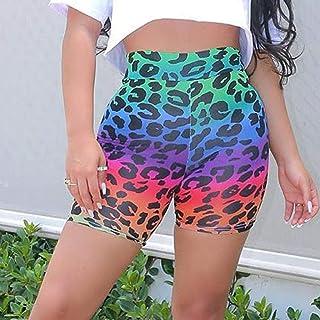 Summer Ladies Shorts Loose Casual Woman Print Gym Printing High Waist Leggings Tight Sports Yoga Bottom