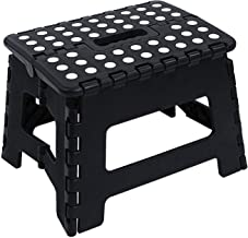 Maddott Super Strong Folding Step Stool,11x8.5x8.5inch, Holds up to 250 Lb, Black
