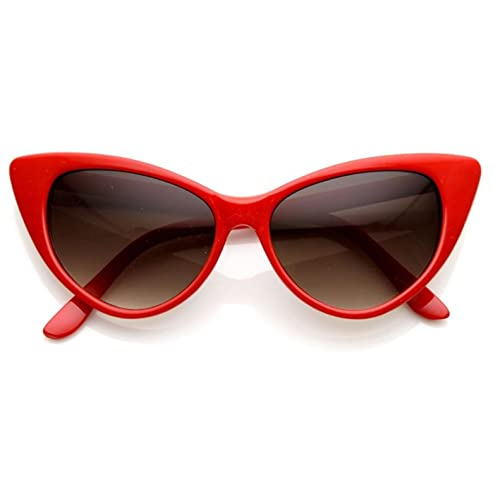 53fd2d9fe5 AStyles - Super Cateyes Vintage Inspired Fashion Mod Chic High Pointed Cat  Eye Sunglasses Glasses