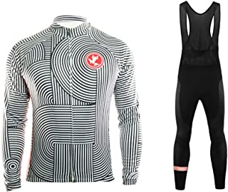 Bike Wear De Invierno Manga Larga Maillot Ciclismo Hombre Bodies Long Bib Tights with Gel Pad Winter Style