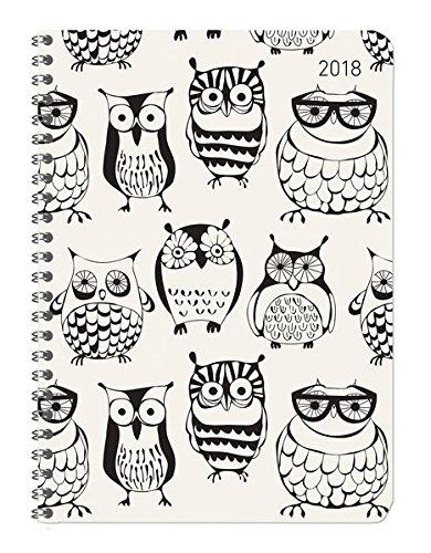 Ladytimer Ringbuch Owls 2018 - Taschenplaner / Taschenkalender A5 - Collegetimer / Schülerkalender - Weekly - Ringbindung - 128 Seiten