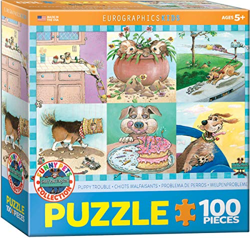 EuroGraphics Puppy Trouble by Gary Patterson 100-Piece Puzzle