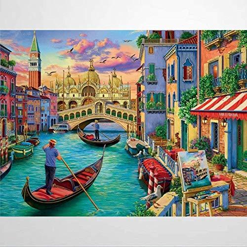 1000 Piezas Puzzle - Qué Hacer En Venecia - Rompecabezas Para Niños Adultos Juego Creativo Rompecabezas Navidad Decoración Del Hogar Regalo