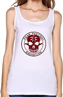 Women Fear Factory Logo Demanufacture Genexus O-neck Tank Top Shirt