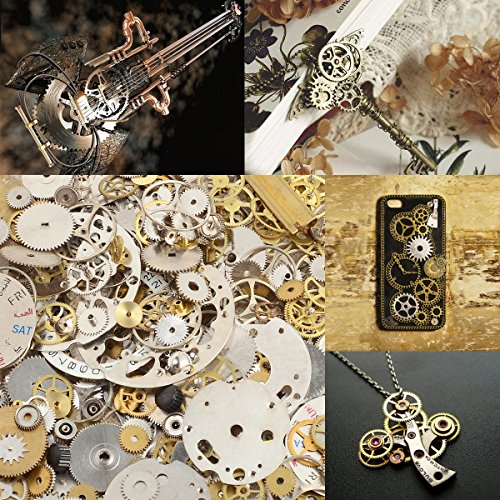 These lots are for 50 grams of mixed watch parts. Suitable for steampunk project or arts and crafts and jewelery making, or parts for watchmaker or watch repairer. Photo gives an example of exactly 50 grams so you can judge the amount of parts you wi...