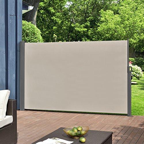 pro.tec Toldo Lateral tamaños - Exterior - contra Viento, Sol y visión - Color de Arena - 160 x 300cm