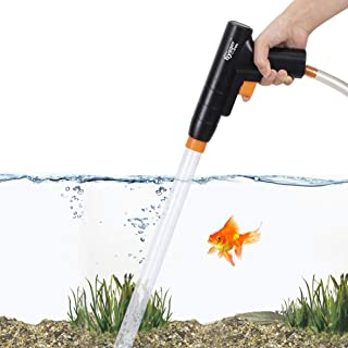 hygger Aquarium Gravel Cleaner, New Quick Water Changer with Air-Pressing Button Fish Tank Sand Cleaner Kit Aquarium Sipho...
