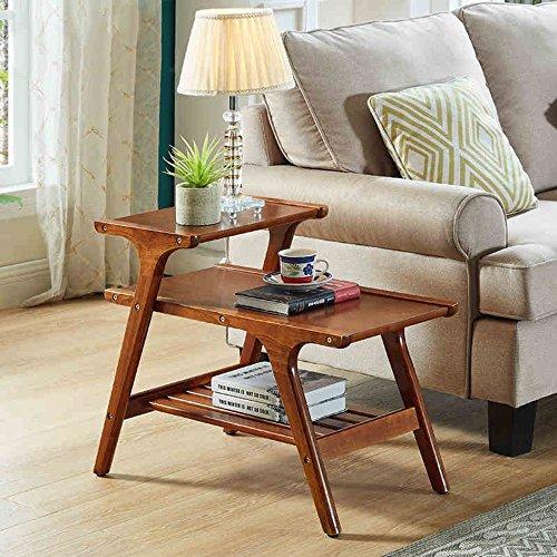 MEIDUO Étagères Table basse multifonctionnelle de sofa de tables de coin pour le hall, le salon, la chambre à coucher, le balcon L68.5 * W42 * H56CM très durable (Couleur : Noyer)