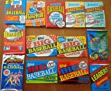 Nice Lot of 13 Sealed Unopened Wax Packs Old Baseball Cards 1986 to 1995