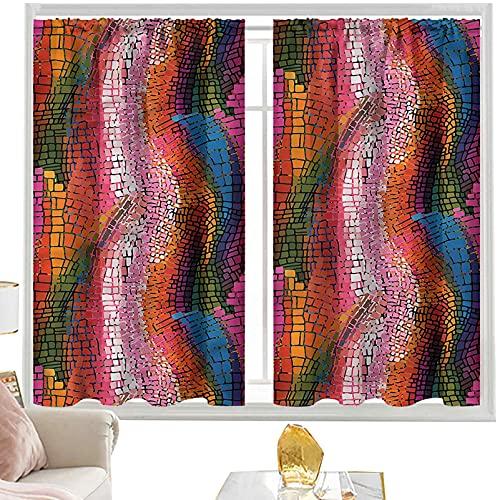 Cortinas modernas y coloridas cortinas onduladas de 42 x 63 pulgadas de ancho