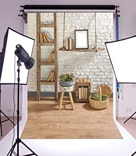 SZZWY 5x3ft Business Office French Sash Window Backdrop Living Room Sofa Plant Photography Background Interior Casement Work at Home Modern Flat Furniture Apartment Decoration Residence Villa Props