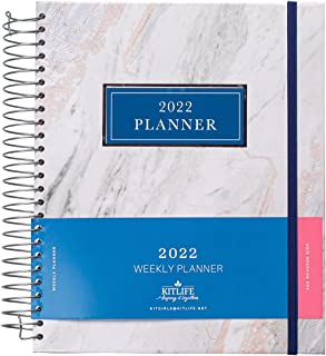 $22 » Sponsored Ad - KITLIFE 2022 Keeping it Together Weekly Planner   Chic Women's Planner with Monthly Calendar – Spiral Bound...