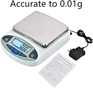 InLoveArts High Precision Lab Scale,Digital Analytical Electronic Laboratory Balance Scale,Gold Jewelry Scales Kitchen Precision Weighing Electronic Scales(5000g, 0.01g)