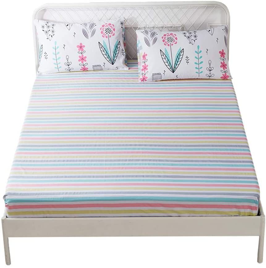 HIGHBUY 100 Percent High quality Soft Cotton Sheet Direct stock discount Size Colorful Queen Fitted