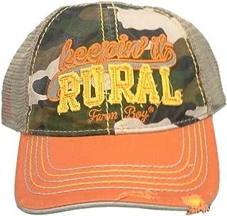 Western Hat Boys Rural Mesh Camo Adjust Orange F53084189