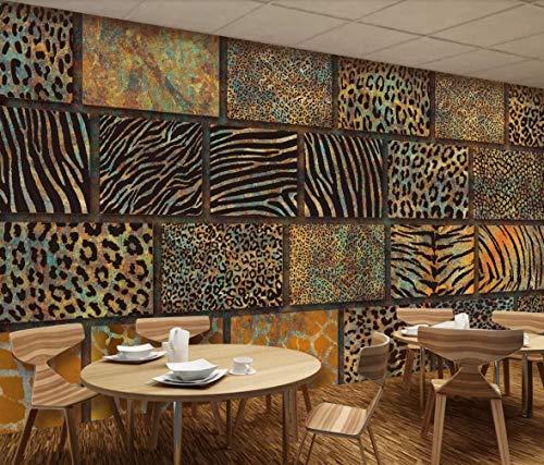 Papel Pintado 3D Textura De Piel De Animal, Print De Leopardo, Suelo, Pared Del Fondo Fotomurales 3D TV Fondo Pared Murales Papel Tapiz Moderno