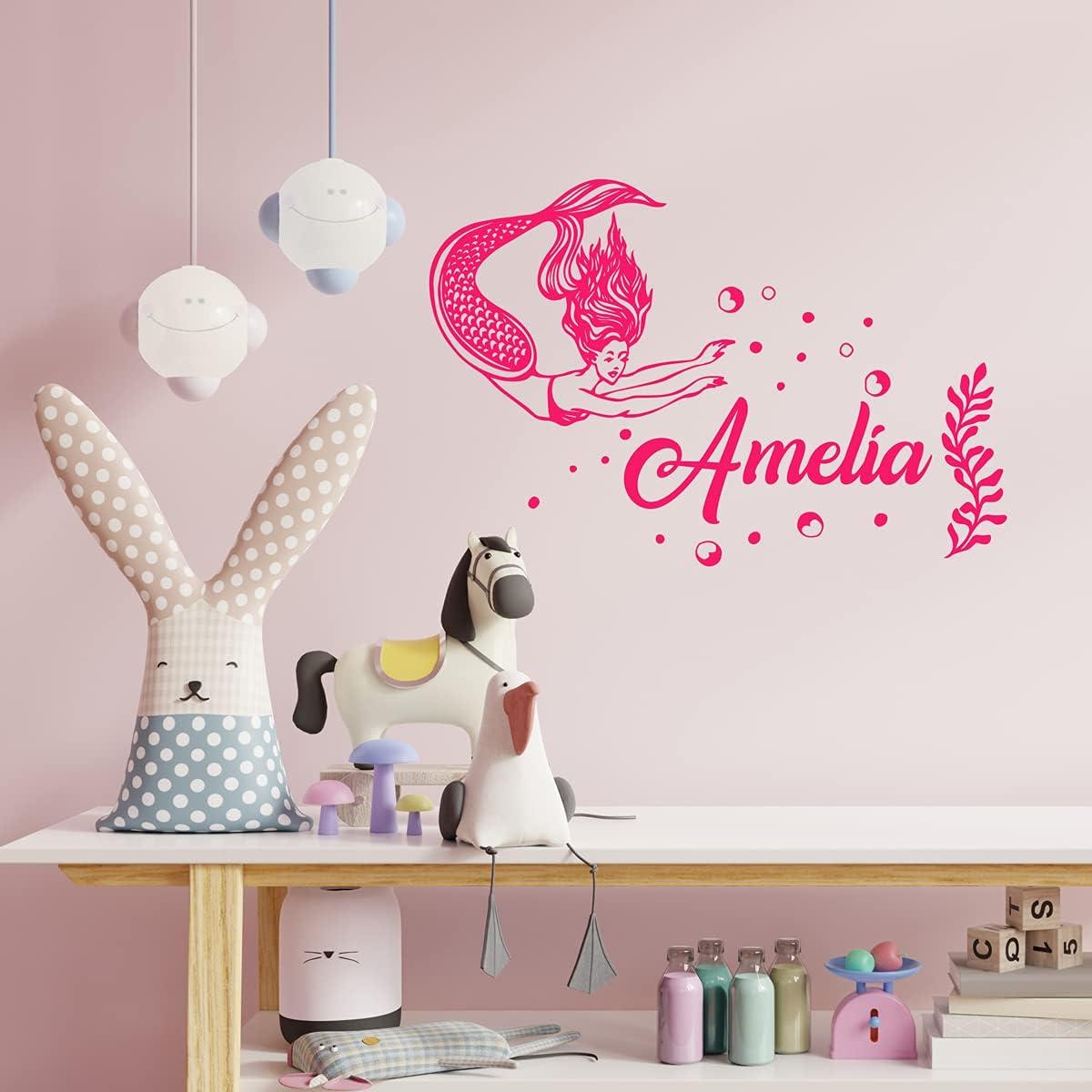 ZIHENG Opening large release sale Mermaid Custom Name Vinyl Outstanding Wall Room Stickers Kids Decals