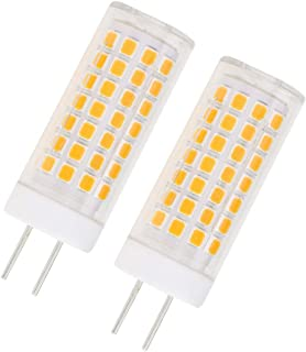 Lamsky GY6.35 G6.35 LED Light Bulb 7W,G6.35/GY6.35 Bi-pin Base Bulb,AC 110V/220V Warm White 3000K,GY6.35 Base T4 JC Type 70W Halogen Replacement(2-Pack)