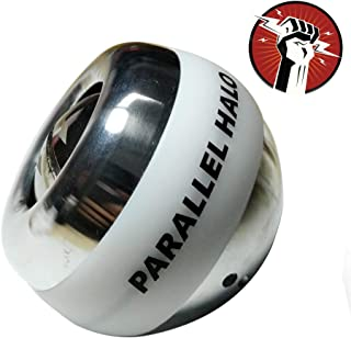 Parallel Halo Power Wrist Ball Metal Gyro Ball AUTO Start Wrist Exercises Force Ball Gyroscope Ball Wrist and Forearm Exerciser Arm Strengthener for Stronger Muscle and Bones