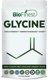 BioFinest Glycine Powder 1000Mg - Pure Gluten-Free Non-Gmo Kosher Vegan Friendly - Supplement For Muscle Strength, Workout Endurance, Energy, Healthy Memory, Focus (1000G)