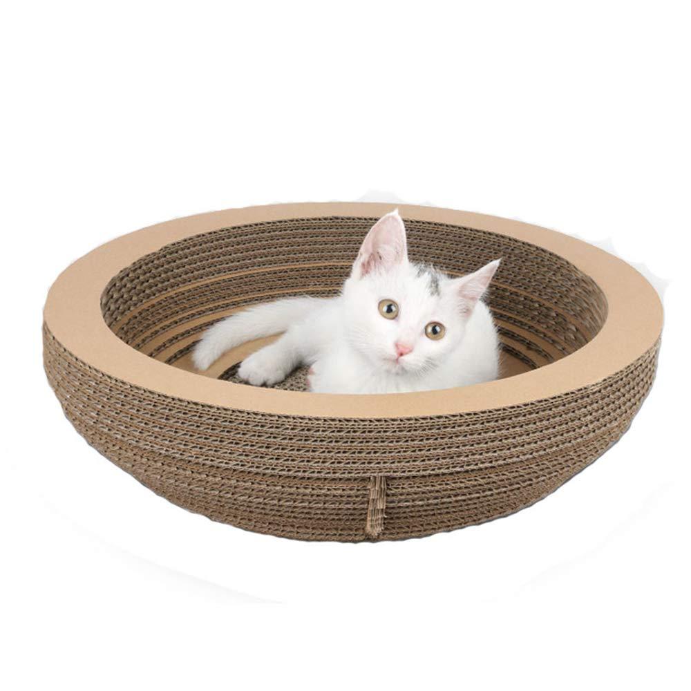 SUNMRC Rascadores para Gatos, Forma de Cuenco, Almohadilla de rascador reciclable con cartón Corrugado, Juguete para Gato, Tabla de rascar: Amazon.es: Productos para mascotas