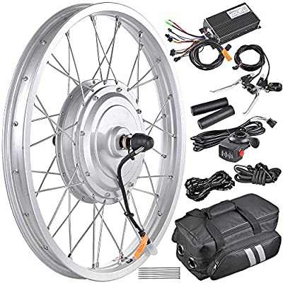 """AW 20"""" Electric Bicycle Front Wheel Conversion Kit E-Bike 36V 750W Motor for 20"""" x 1.75""""-2.1"""" Tire"""