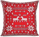 New-WWorld-Shop Design Merry Scarf Norwegische Schneeweihnachtsart Selbstgemachtes Nordisches Kreuz...