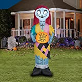 The Nightmare Before Christmas 5ft Sally Claws with Pumpkin Halloween Inflatable by Gemmy