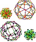 4E's Novelty Expandable Breathing Ball Sphere (4 Pack) Toy for Kids Stress Reliever Fidget Toys Colors May Vary for Yoga Anxiety Relaxation Expands from 5.6' to 12'