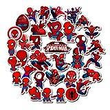 HAOZH Marvel Spiderman Casco monopatín Equipaje Cuaderno Taza de Agua Coche eléctrico Impermeable Personalizado Graffiti Pegatinas 35