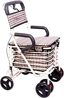 Mobility Aids & Supplies Walker Foldable Metal Trolley Old Four-foot Cane Scooter Wheelchair Wagon Portable Shopping Cart ...