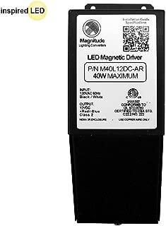 12V Magnitude Magnetic Dimmable LED Driver Transformer Hardwired Under Cabinet Lighting 40 Watt - Inspired LED