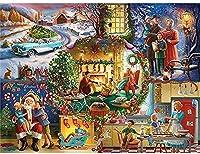 刻印されたクロスステッチキット初心者DIYアートクラフト、クリスマスビューティー、ニードルポイント大人のためのクロスステッチのフルレンジ家の装飾とギフトのための刺繡16x20インチ(印刷11CT)