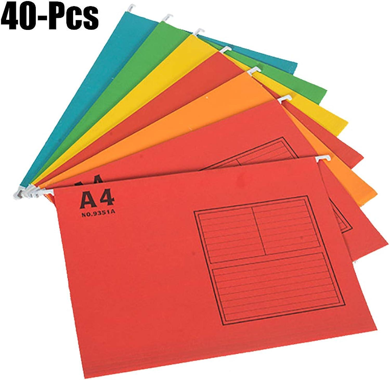 Outgeek Outgeek Outgeek Hängende Datei Ordner, 40PCS hängende Datei Ordner A4 F4 Größe Dokument Organizer Datei Ordner mit Haken für Schule Office B07J41SZBG   Zart  9fb808
